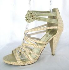 Baby Phat Ianna Shoes Sz 11 Beige Snake Print Gladiator Heels Ankle Strap Sandal
