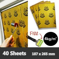 21sq.ft AutoMute PREMIUM 2.2mm 40 Sheets Car Van Sound Deadening Proofing Mat