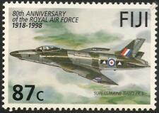 RAF SUPERMARINE SWIFT FR5 Jet Airplane Aircraft Mint Stamp (1998 Fiji)