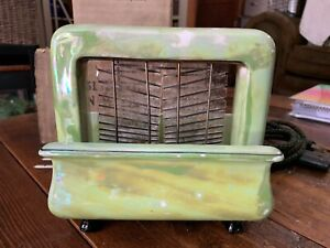 Vintage 1927-1928 Toastrite Onyxide Electric Toaster  - Apple Green wbox/insert