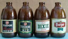 Vtg Amber Brown Stubby Beer Bottles Lot ~ A&P Tudor Ale Premium ~ Dixie ~ Burger