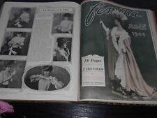 RELIURE REVUE FEMINA 1905  ANNEE COMPLETE MODE THEATRE   VIE MONDAINE EVENEMENTS