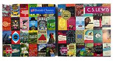 Lot of 2 Re-Marks 1000 Piece Jigsaw Puzzle - Books CS Lewis British Classics