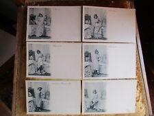 cpa Fantaisie Série de 6 cartes érotisme. érotica
