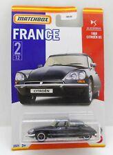 33601 MATCHBOX / CARTE US / SERIE FRANCE 2021 / CITROEN DS 1968 NOIRE