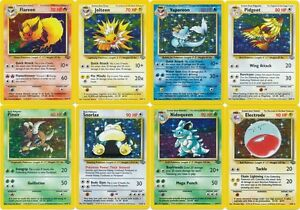 Pokemon cards Jungle set RARE HOLO (Pidgeot Snorlax Flareon Jolteon Scyther etc)