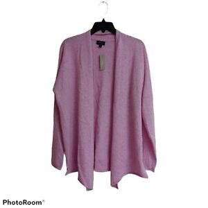 NWT J. Crew 100% cashmere open front cardigan M