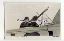 ac0096 - RAF Bi-plane Aircraft - Machine Gunner in an Overstrand - postcard