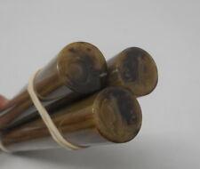 Beautiful rare lot of old bakelite marbled 3 rods 192 grams