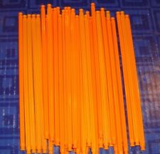 Knex K'Nex Neon Assortment of 7 1/2 inch Rods QTY 39  Roller Coaster Orange