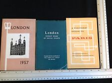 3 x VINTAGE BARCLAYS BANK DIARY VISITORS GUIDES 1950'S