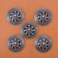 10pcs 3cm Antique Silver Hot Wheels Skull Rivetback Conchos for Leather Wallet
