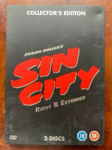 Sin City DVD Steelbook 2005 Cult Film Noir Crime Thriller Movie Classic 2-Discs