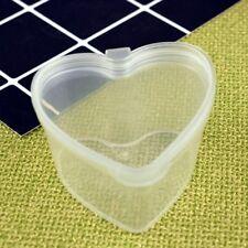 10Pcs Boîte En Plastique En Forme De Coeur Transparent Conteneurs D'organisation