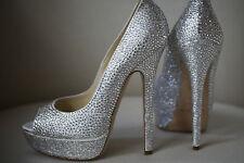 Jimmy Choo Bridal or Wedding Peep Toe Heels for Women