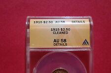 1915 INDIAN HEAD QUARTER EAGLE $2.5 GOLD ANACS AU58