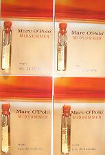 MARC O'POLO MIDSUMMER MAN 4 x 1.8ml EAU DE TOILETTE SAMPLE VIALS NEW