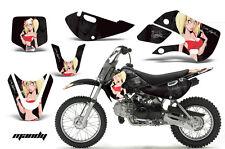 Decal Graphic Kit Wrap For Kawasaki KLX 110 2002-2009 KX 65 2002-2018 MANDY RED