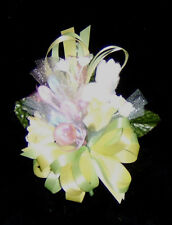 Baby Shower Corsage for Mother, Grandma, Hostess Yellow & Green  Handmade