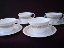 Corelle Dishes Woodland Brown Open Handled Cups And Saucers 4 Sets