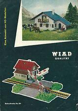 Catalogue Wiard 1965 réseau ferré HO maquette