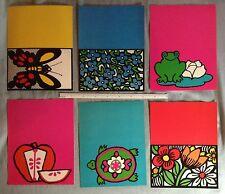 2DOZEN WOODSTOCK GROOVY ART 1960s COLOR 6 DIFFERENT FOLD OVER WRITING POSTCARDS