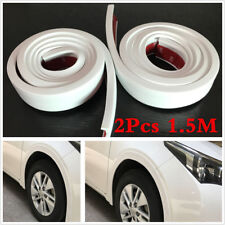 2X3.8cm 1.5 Car Fender Flare Extension Wheel Eyebrow Moulding Trim Protector Lip