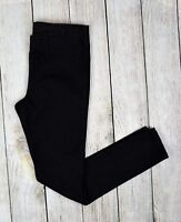 Style&Co Women Mid Rise Elastic Waist Denim Jegging Pant Pull On Black Petite PS