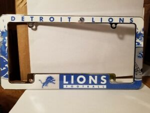 NFL Detroit Lions All Over Chrome License Plate Frame