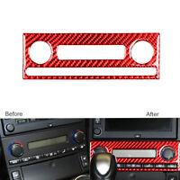 Red Carbon Fiber Air Vent Switch Panel Cover For Chevrolet Corvette C6 2005-2007
