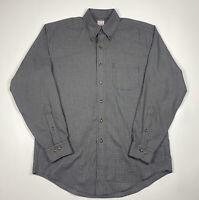Brooks Brothers 346 Regular Fit Non Iron Black Tartan Button Down L/S Mens M