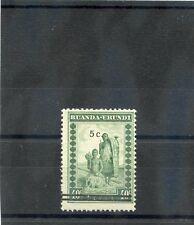 RUANDA-URUNDI Sc 56(MI 65)**F-VF NH 1941 5c/40c GREEN, SURCHARGE, $45