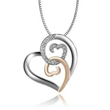 Infinite Hearts Pendant Necklace with Box Chain Ginger Lyne Collection
