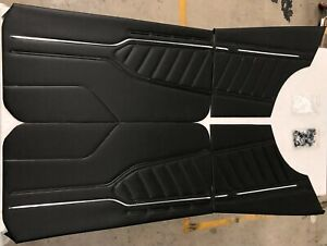 MAZDA 10A 12A RX3 808 COUPE BLACK VINYL DOOR TRIMS WITH BACKINGS & CLIPS