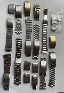 Vintage Seiko Bracelet Spares And Snaps Job Lot 1970-90s