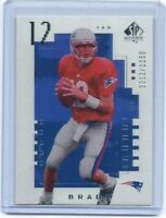 2000 NFL UD SP Authentic #118 Tom Brady Rookie Card  REPRINT #0012/2000 Patriots
