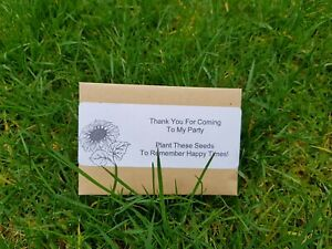 Sunflower Seeds  Baby Shower Thank You Birthday Party Bag Filler x5 packs