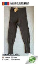 Mongolian 100% Yak wool Unisex Underpants Ultra Soft Very Warm Natural Size M-L