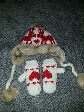 girls next hat and gloves 3-6 years
