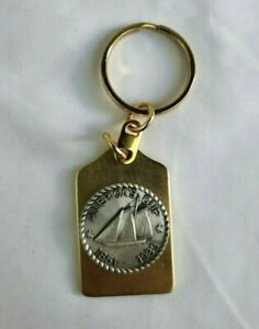 America's Cup 1851-1983 Vintage Gold Key Chain Sailing Yachts Racing