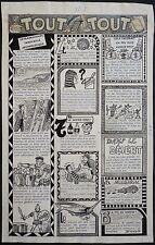 """Planche originale dessin de FRAGA vers 1949 """"le saviez-vous ?"""""""