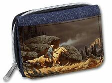 Horse Riding Cowboy Girls/Ladies Denim Purse Wallet Christmas Gift Idea, AHC-1JW