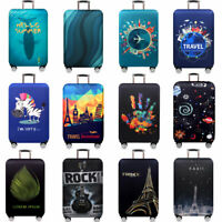 18 -32 inch Printed Travel Luggage Protector Elastic Dust-proof Suitcase Cover