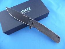 Ruike P801-SB Frame Lock Folder Knife Black Stone Washed 14C28N Stainless Steel