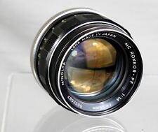 Near-Mint Minolta Rokkor-PF 1:1.4 f=58mm Lens Looks and Works Great