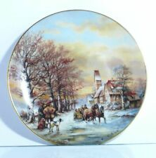 Collection Plate Wall Vohenstrauss Family Day Out IN The Snow Winter Landscape