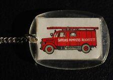 Alter Feuerwehr Schlüsselanhänger Sapeurs Pompiers Reichstett 1966 / Porte Clef