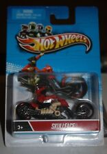 2012 Hot Wheels - SKULLFACE DIECAST MOTORCYCLE BIKE WITH RIDER 1:64 SCALE