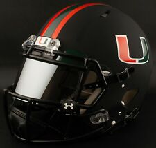 *CUSTOM* MIAMI HURRICANES NCAA Riddell SPEED Full Size Replica Football Helmet