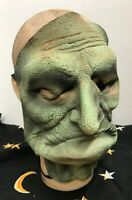 Vtg Sri Lanka Green Witch Old Woman MASK HALLOWEEN MONSTER